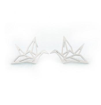Pendientes largos Grulla Origami