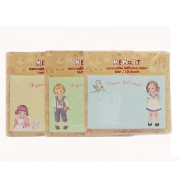 Pack Post it Paper Doll