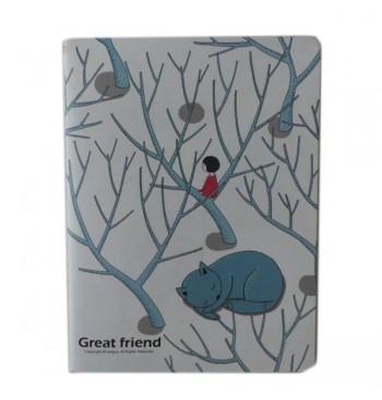 Cuaderno Gato con Árboles