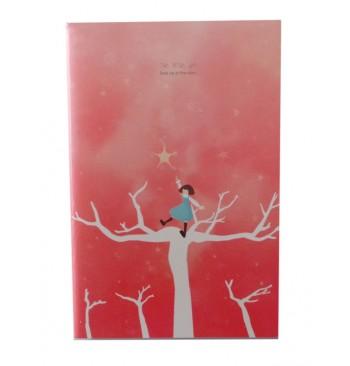 Cuaderno rosa estrellas