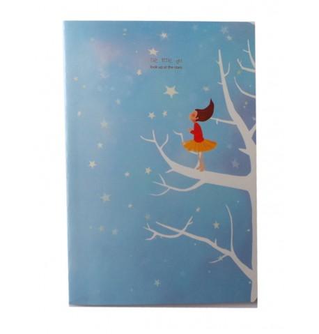 Cuaderno azul claro