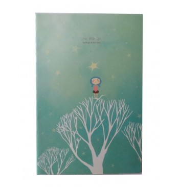 Cuaderno azul estrellas