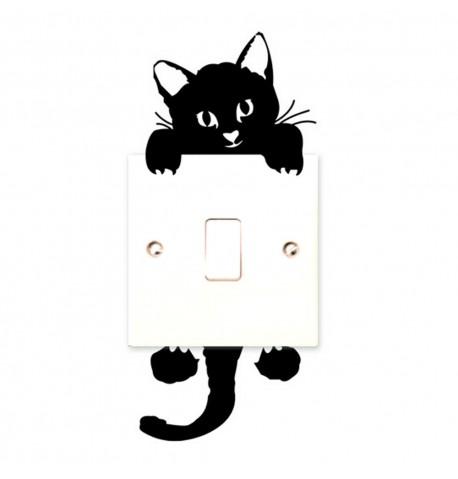 Pegatina gato para interruptor