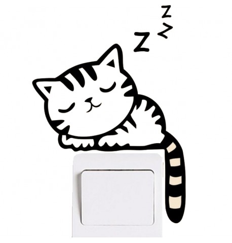 Pegatina gato durmiendo