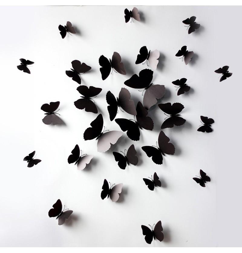 Mariposas adhesivas negras - Mariposas para pared ...