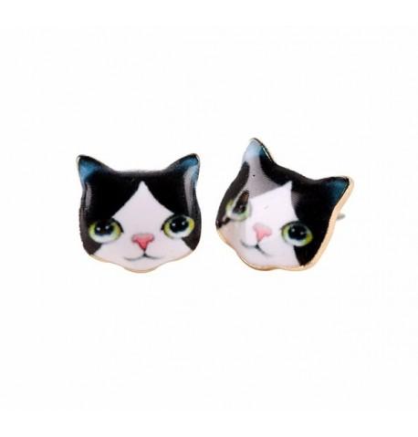 Pendientes gato negro