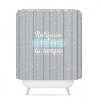 Cortina de baño Relájate